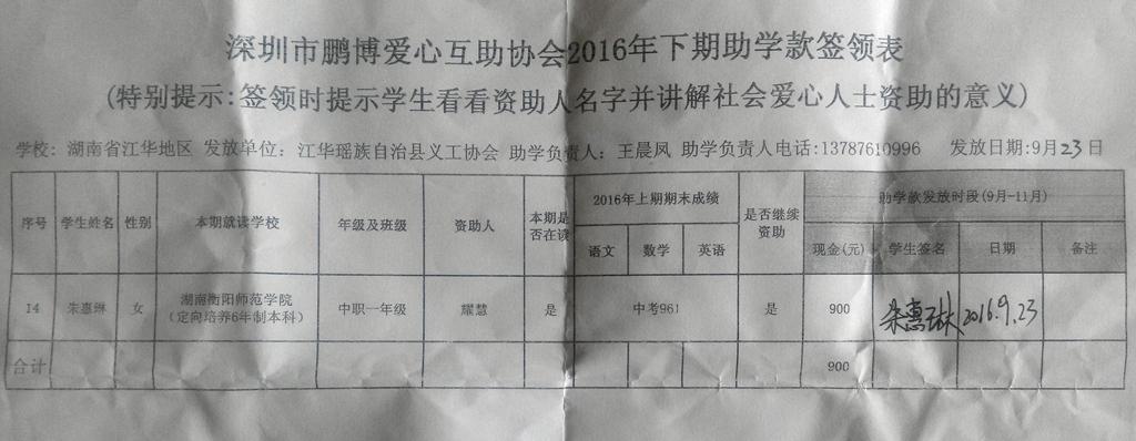 湖南省江华瑶族自治县义工协会2016年下期助学签领表 (11).jpg